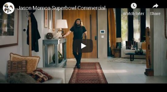 jason momoa super bowl Rocket Mortgagecommercial screenshot